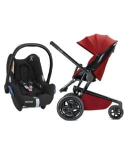 Quinny Moodd Black Frame 2in1 Cabrio Travel System-Red Rumour
