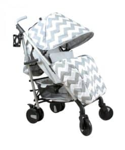 My Babiie Billie Faiers MB51 Stroller-Grey Chevron (NEW)