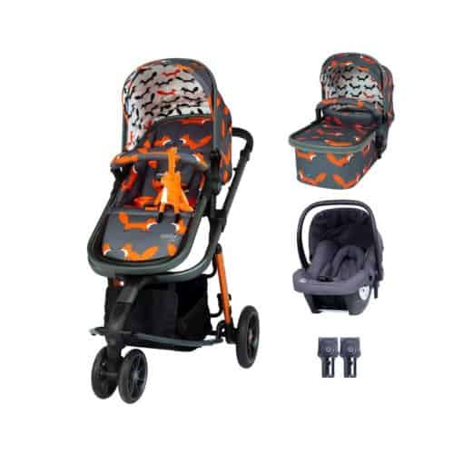 Cosatto Giggle 3 Travel System Bundle-Charcoal Mister Fox