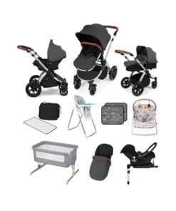 Ickle Bubba Stomp V3 11pc Newborn Bundle-Silver Frame