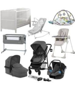 Kinderkraft Juli 10 Piece Complete Newborn Bundle-Grey