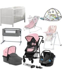 Kinderkraft Juli 10 Piece Complete Newborn Bundle-Pink