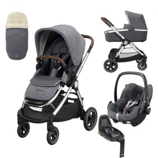 Maxi Cosi Adorra Luxe 3in1 Bundle-Twillic Grey (NEW)