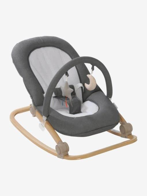 Baby Bouncer with Arch, Babydream grey medium solid