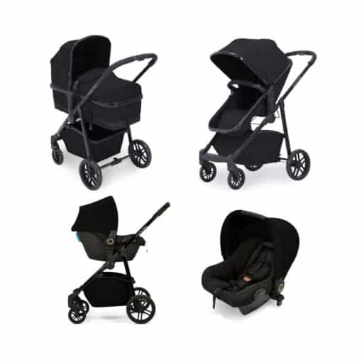 Ickle bubba Moon All-in-One Travel System with Astral Carseat-Black