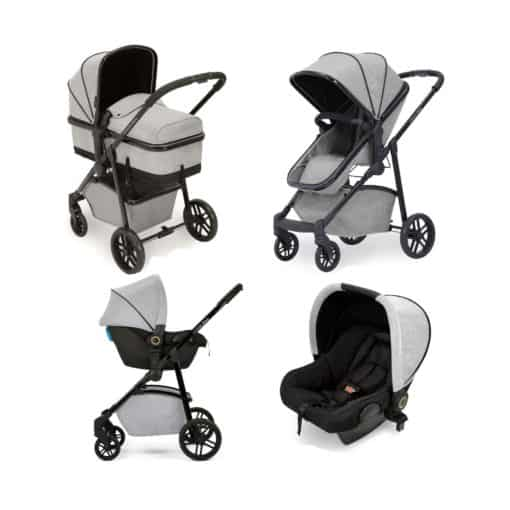 Ickle bubba Moon All-in-One Travel System with Astral Carseat-Silver Grey