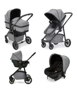 Ickle bubba Moon All-in-One Travel System with Astral Carseat-Space Grey