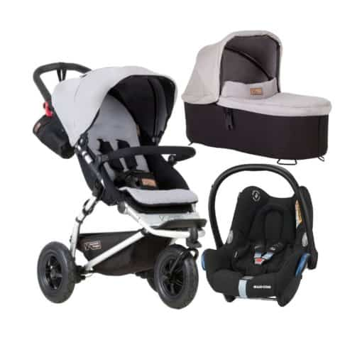 Mountain Buggy Swift V3.2 3in1 Travel System-Silver