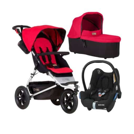 Mountain Buggy Urban Jungle 3in1 Travel System-Berry