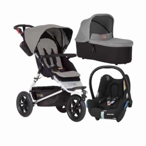 Mountain Buggy Urban Jungle 3in1 Travel System-Silver