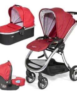 Tutti Bambini Arlo Chrome 3in1 Travel System-Poppy