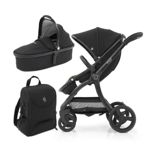 egg® 2 Special Edition 2in1 Pram System-Just Black (NEW)