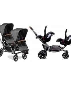 ABC Design Zoom Tandem Diamond Edition Stroller With Car Seat-Asphalt (2020)
