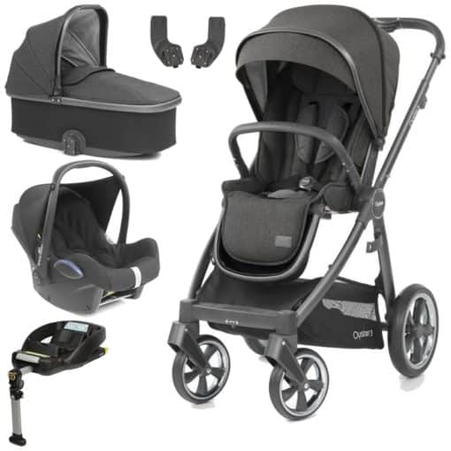 BabyStyle Oyster 3 City Grey Finish Essential Cabrio Travel System-Pepper