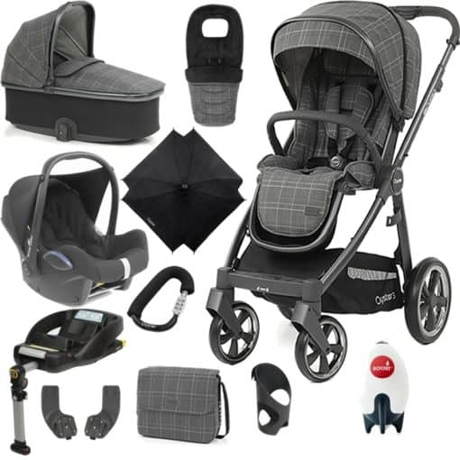 BabyStyle Oyster 3 City Grey Finish Ultimate Cabrio Travel System-Manhattan