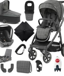 BabyStyle Oyster 3 City Grey Finish Ultimate Capsule Travel System-Manhattan