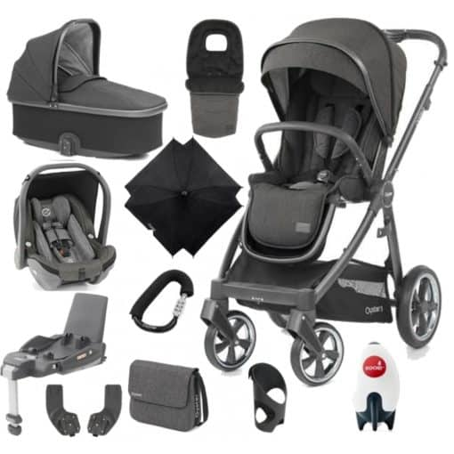 BabyStyle Oyster 3 City Grey Finish Ultimate Capsule Travel System-Pepper