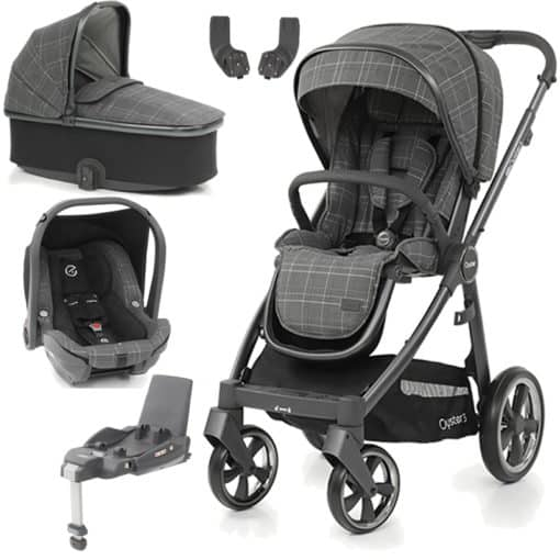 BabyStyle Oyster 3 City grey Finish Essential Capsule Travel System-Manhattan