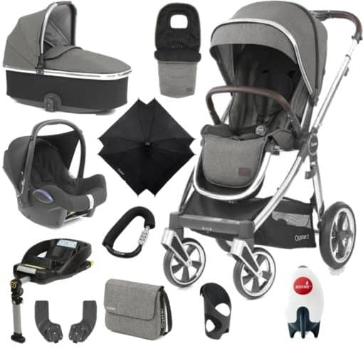BabyStyle Oyster 3 Mirror Finish Ultimate Cabrio Travel System-Mercury