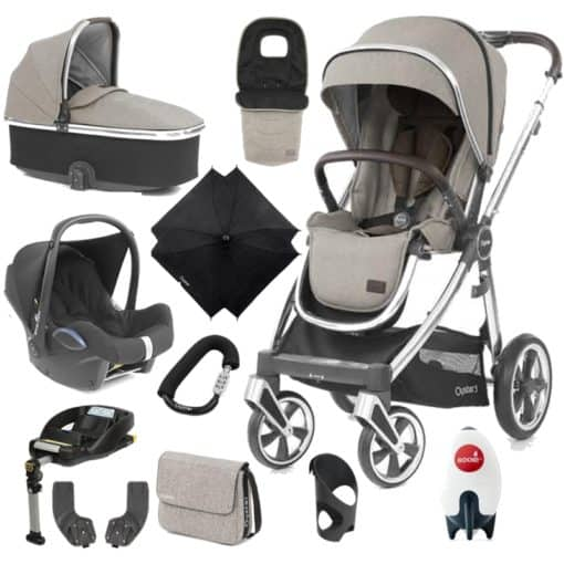 BabyStyle Oyster 3 Mirror Finish Ultimate Cabrio Travel System-Pebble