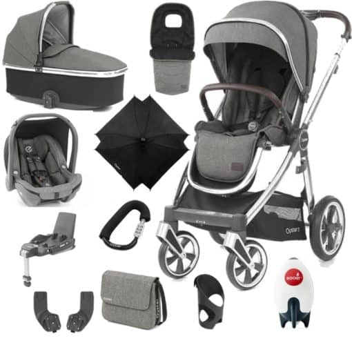 BabyStyle Oyster 3 Mirror Finish Ultimate Capsule Travel System-Mercury