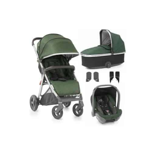 BabyStyle Oyster Zero Capsule 5 Piece Travel System-Alpine Green