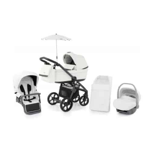 BabyStyle Prestige 3 3in1 Travel System Grey Frame/Black-Blizzard