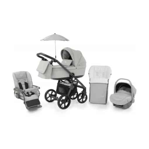 BabyStyle Prestige 3 3in1 Travel System Grey Frame/Black-Flint