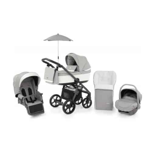 BabyStyle Prestige 3 3in1 Travel System Grey Frame/Black-Frost