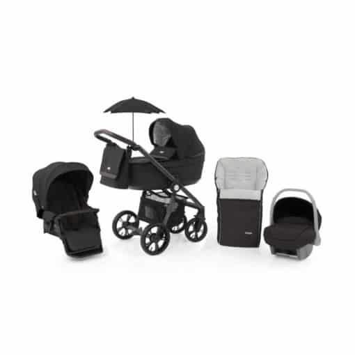 BabyStyle Prestige 3 3in1 Travel System Grey Frame/Brown-Liquorice