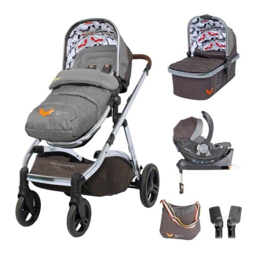 Cosatto Wow XL 3in1 Whole 9 Yards Travel System with i-Size Car Seat-Mister Fox