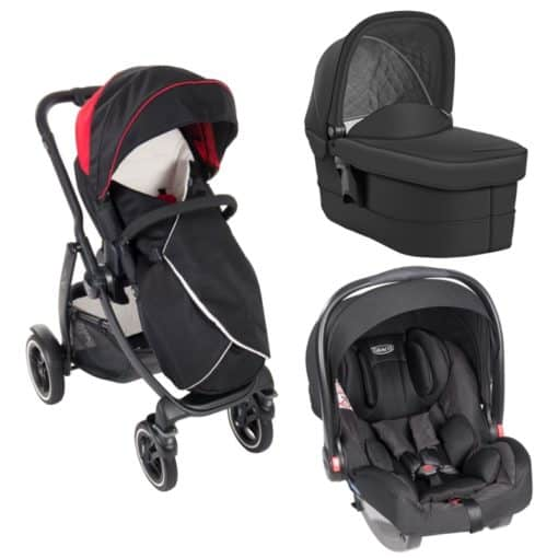 Graco Evo XT 3in1 Travel System-Black/Red