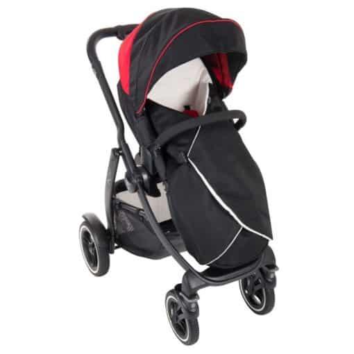 Graco Evo XT Stroller inc Footmuff-Black/Red