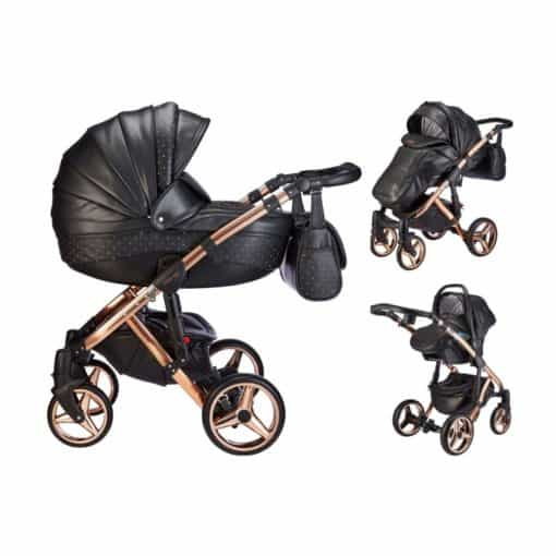 Mee-Go Milano SWAROVSKI Limited Edition Chassis 3in1 Travel System-Rose Gold (2021) + Free Changing Bag Worth £80!