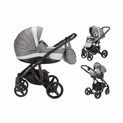 Mee-Go Milano Sport Black Chassis 3in1 Travel System-Dove Grey (2021) + Free Changing Bag Worth £80!