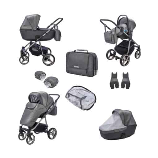 Mee-go Santino Special Edition Travel System-Cloud (2021) + Free Changing Bag Worth £80!