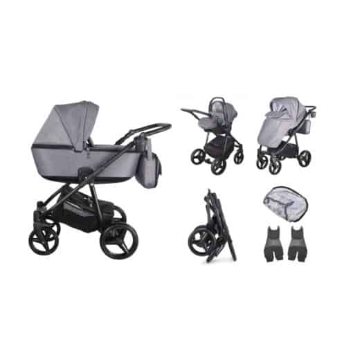 Mee-go Santino Travel System-Graphite (2021) + Free Changing Bag Worth £80!
