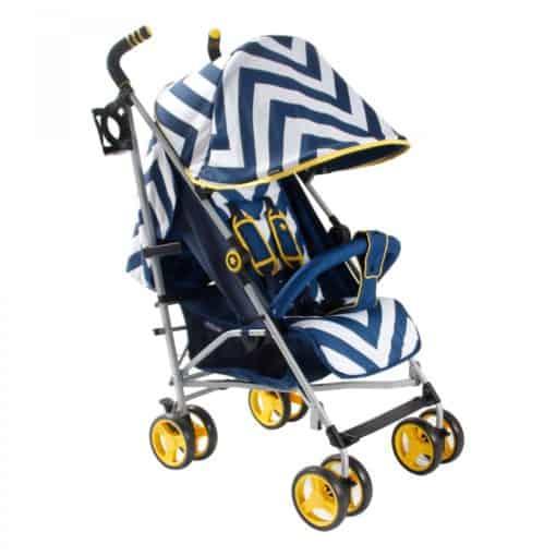 My Babiie MB02 Stroller- BLUE Chevron MB02BC