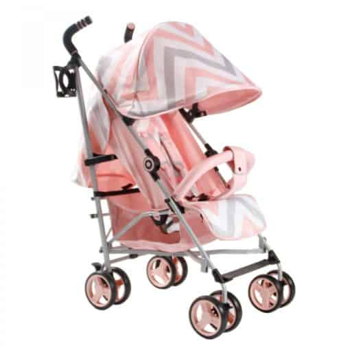 My Babiie MB02 Stroller-PINK Chevron MB02PC