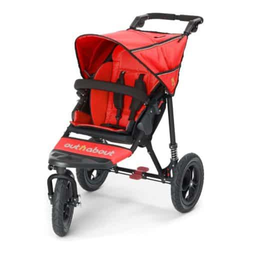 Out n About Nipper Single 360 V4 Stroller-Carnival Red