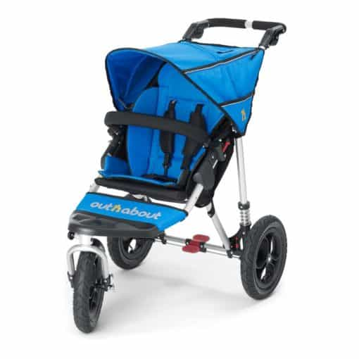 Out n About Nipper Single 360 V4 Stroller-Lagoon Blue
