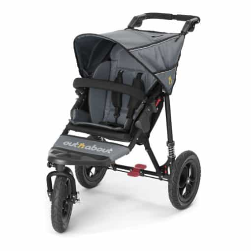 Out n About Nipper Single 360 V4 Stroller-Steel Grey
