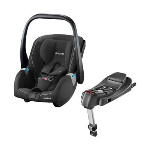 Recaro Guardia Group 0+ Infant Car Seat With Isofix Base-Performance Black (New 2020)