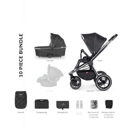 Venicci Tinum 2in1 Travel System- Camo Black (NEW 2020)