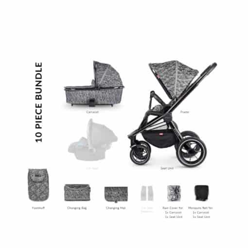 Venicci Tinum 2in1 Travel System- Camo Grey (NEW 2020)