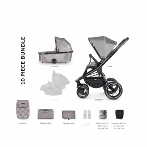 Venicci Tinum 2in1 Travel System-Grey (NEW 2020)