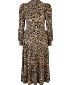Womens **Dp Maternity Black Animal Print Midi Dress - Multi Colour, Multi Colour