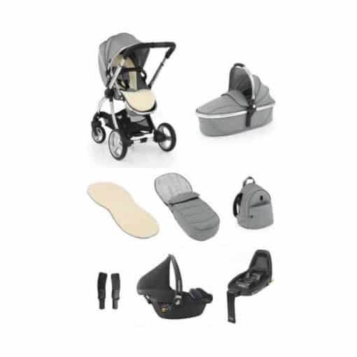 egg® 2 Luxury 3in1 Pebble Pro Travel System with Familyfix2 Base-Monument Grey (NEW)