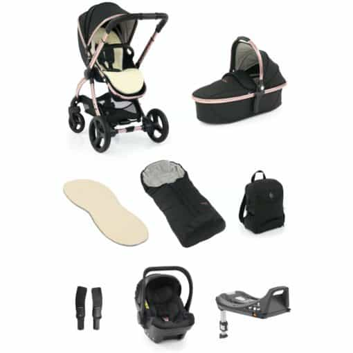 egg® 2 Luxury 3in1 Shell Travel System with ISOFIX Base-Diamond Black (NEW)