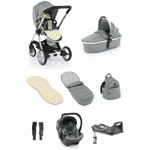 egg® 2 Luxury 3in1 Shell Travel System with ISOFIX Base-Monument Grey (NEW)